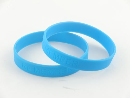 What are the company party silicone wristbands phrase?