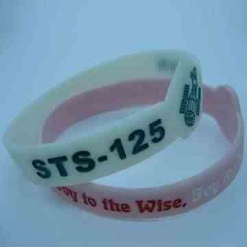 blank rubber wristbands