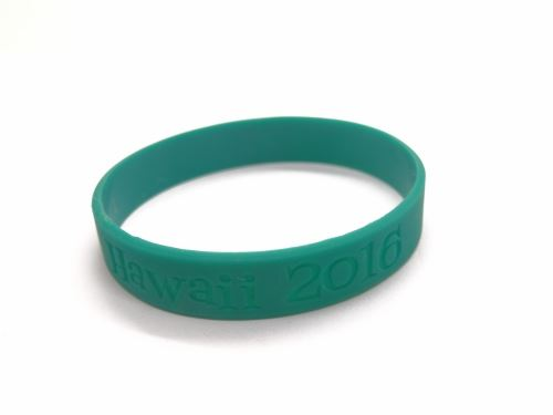 green rubber bracelet