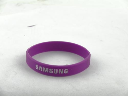 Promotion with silicone bracelet where the factory production