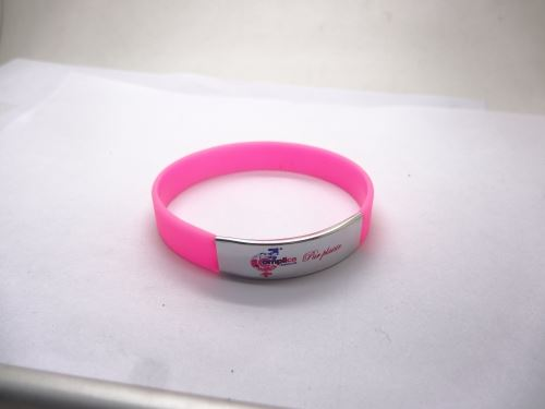 Silicone bracelet can be printed on the national flag?