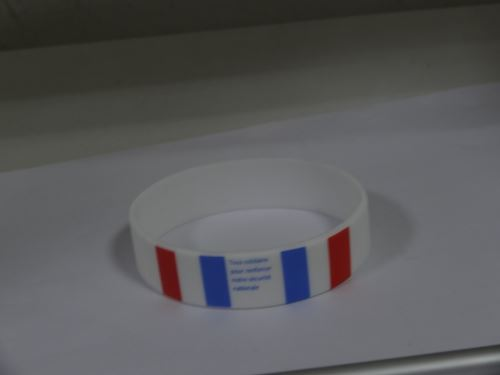 lung cancer awareness rubber bracelets