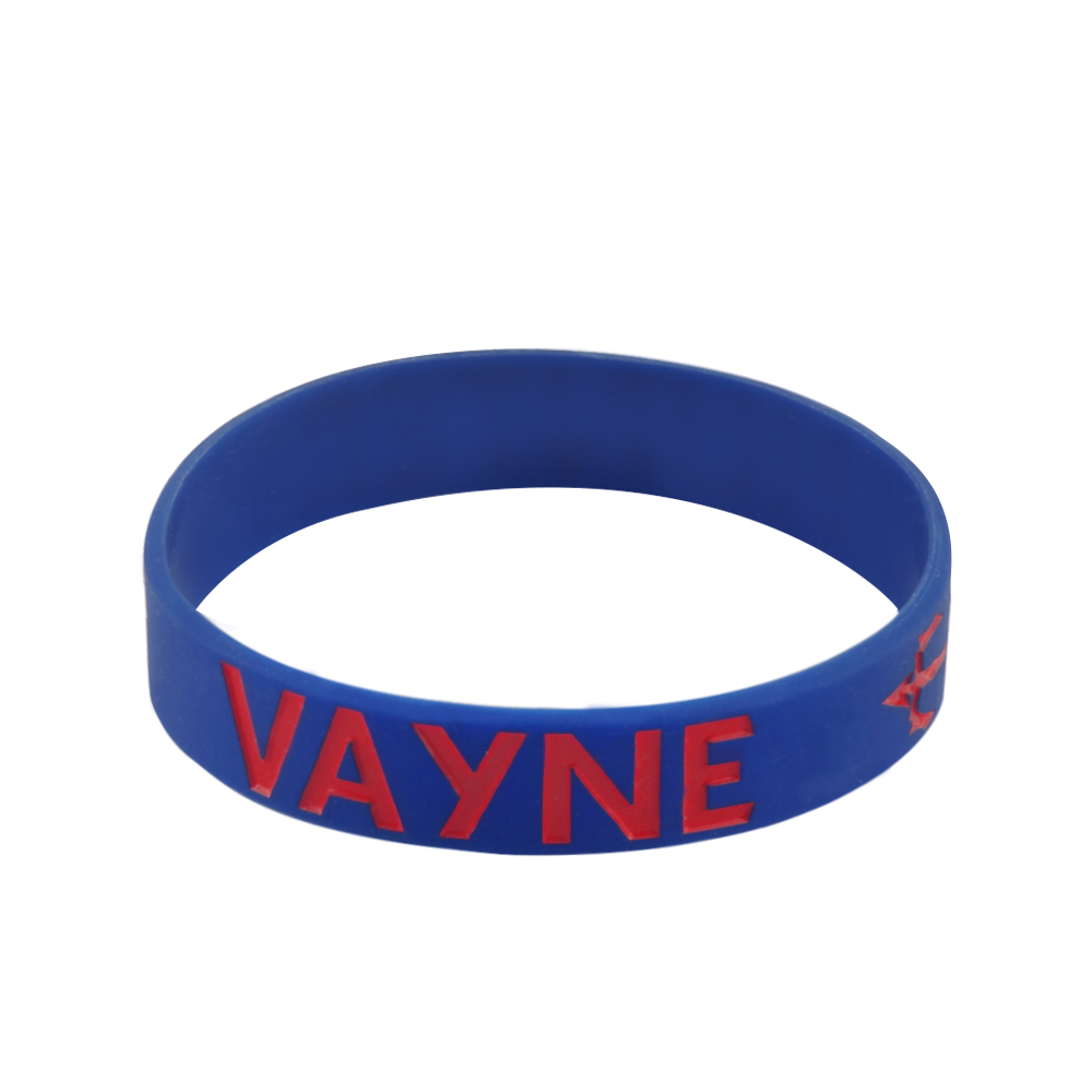 coloured silicone wristbands