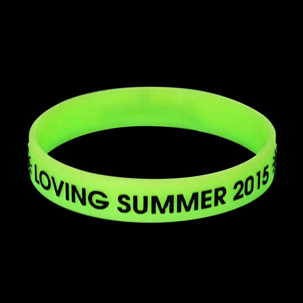 married couples green silicone wristbands